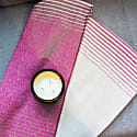 Merino Lambswool Throw White & Fuchsia image