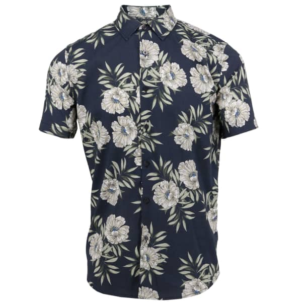LORDS OF HARLECH Scott Shirt In Tropic Black