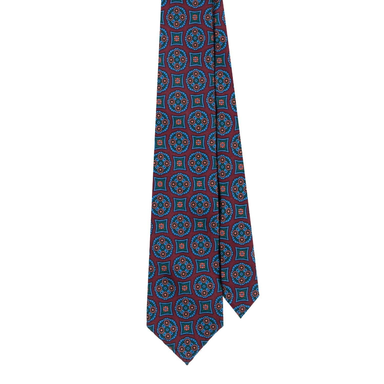 95b09e56c09a Burgundy Medallion 36oz Madder Silk Tie | EZRA AMARFIO | Wolf & Badger