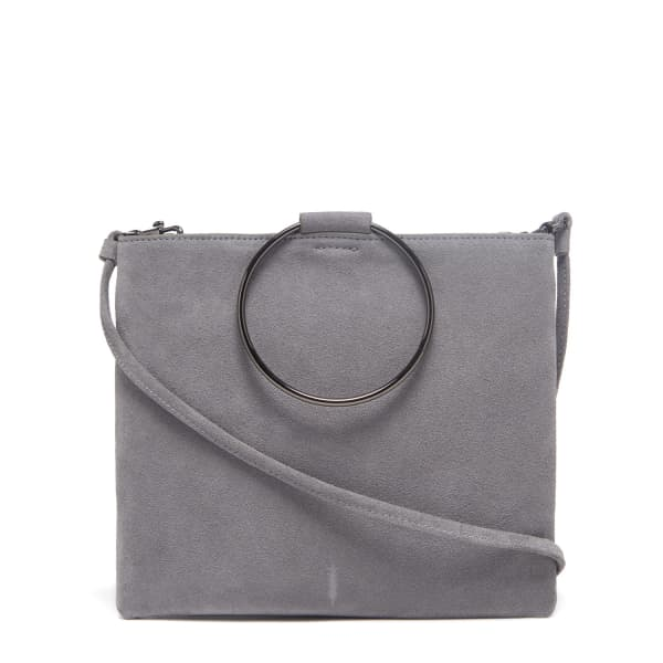 THACKER NEW YORK Le Pouch in Ash Suede