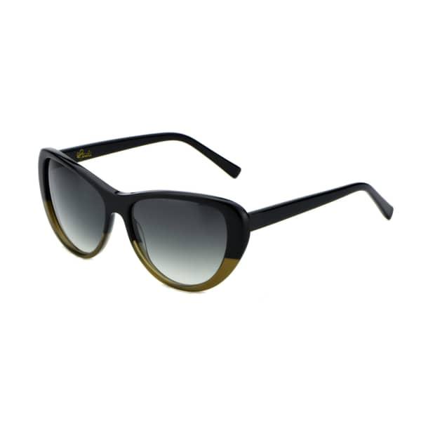 HEIDI LONDON Black Olive Classic Cateye Sunglasses