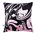 Pink Swirl Silk Cushion image