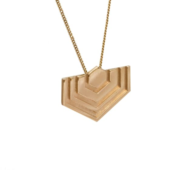 EDGE ONLY Hexagon Necklace in Gold