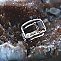 Air Sterling Silver Rectangular Ring image