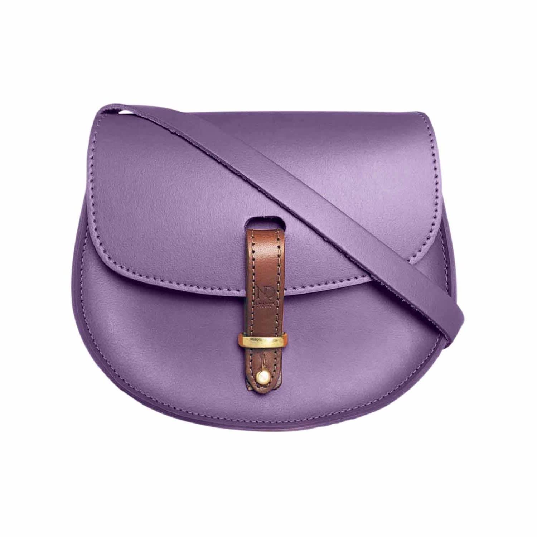 8f8f86c66925d Mini Victoria Purple Leather Crossbody Saddle Bag | N'Damus London ...
