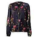 Silk Bomber Jacket Deep Purple image