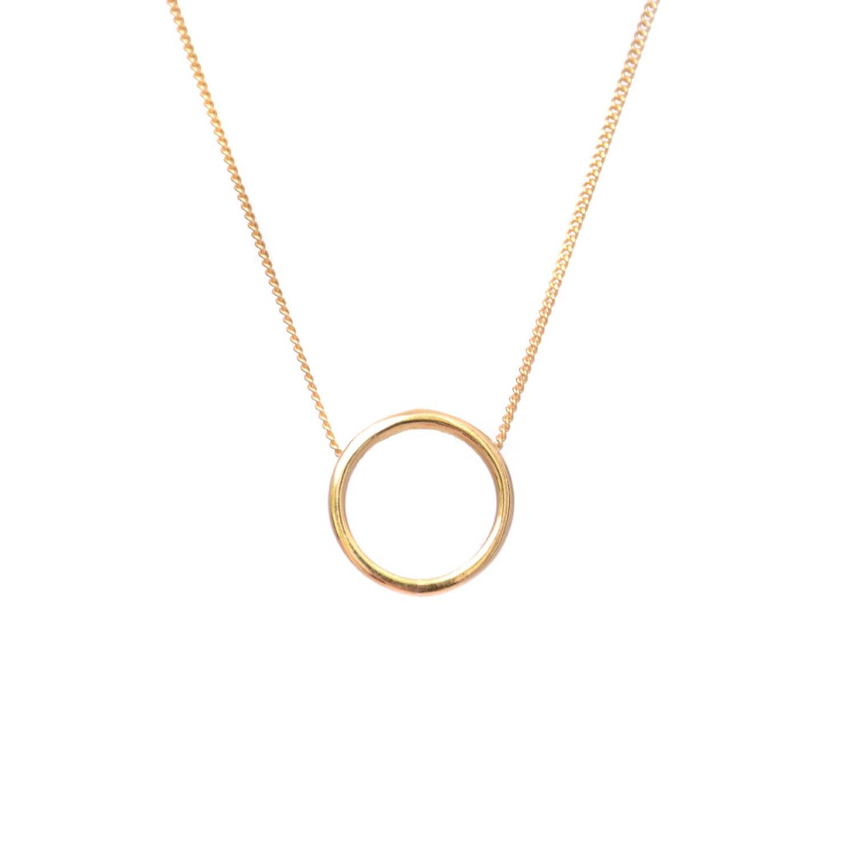 Halo necklace gold lee renee wolf badger halo necklace gold image aloadofball Choice Image