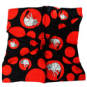 Kalighat Cat Silk Scarf Red and Black image