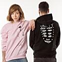 Feminist Art Flower Pink Sweatshirt By Top Tattoo Artists image