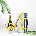 """Keep Your Cool"" Champagne Bucket - Yellow Leather Strap image"