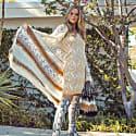 Brown Sundown Handmade Knit Cardigan-Dress image