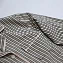 Striped Grey & Dusty Pink Long Pyjama Set image