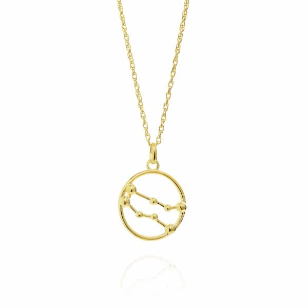 YASMIN EVERLEY JEWELLERY Gemini Astrology Necklace In 9Ct Gold