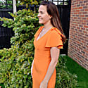 Bella Dress Orange Crepe image