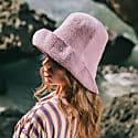 Bloom Crochet Sun Hat In Lilac Purple image