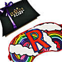 R For Rainbow Luxe Silk Eye Mask In Gift Box image