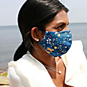 4 Pack Organic Cotton Face Mask - Blue Leopards image