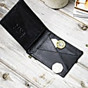 Classic Leather Wallet In Ebony Black image