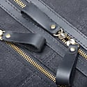 Zip Detail Water Repellent Holdall In Charcoal Black image