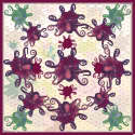 Octopus Rose Silk Scarf image