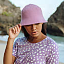 Florette Crochet Bucket Hat in Lilac Purple image