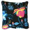 Large Lobiscus Velvet Cushion in Lake Black image