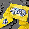 Boxed Blue Palm Eye Mask image