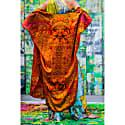 Pink Leopard Silk Wrap Kaftan image