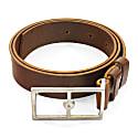 Papaya Brown Original Belvoir Leather & Nickel Belt image