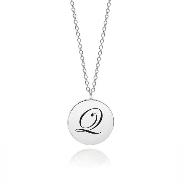 MYIA BONNER Sterling Silver Initial Q Edwardian Pendant