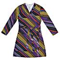 Terez Diagonal Grid Print Wrap Dress image