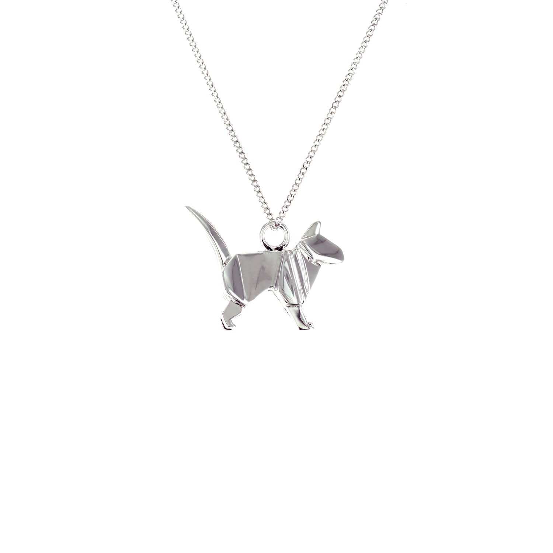 Origami Jewellery Sterling Silver Mini Cat Origami Necklace ve2CbbzxY