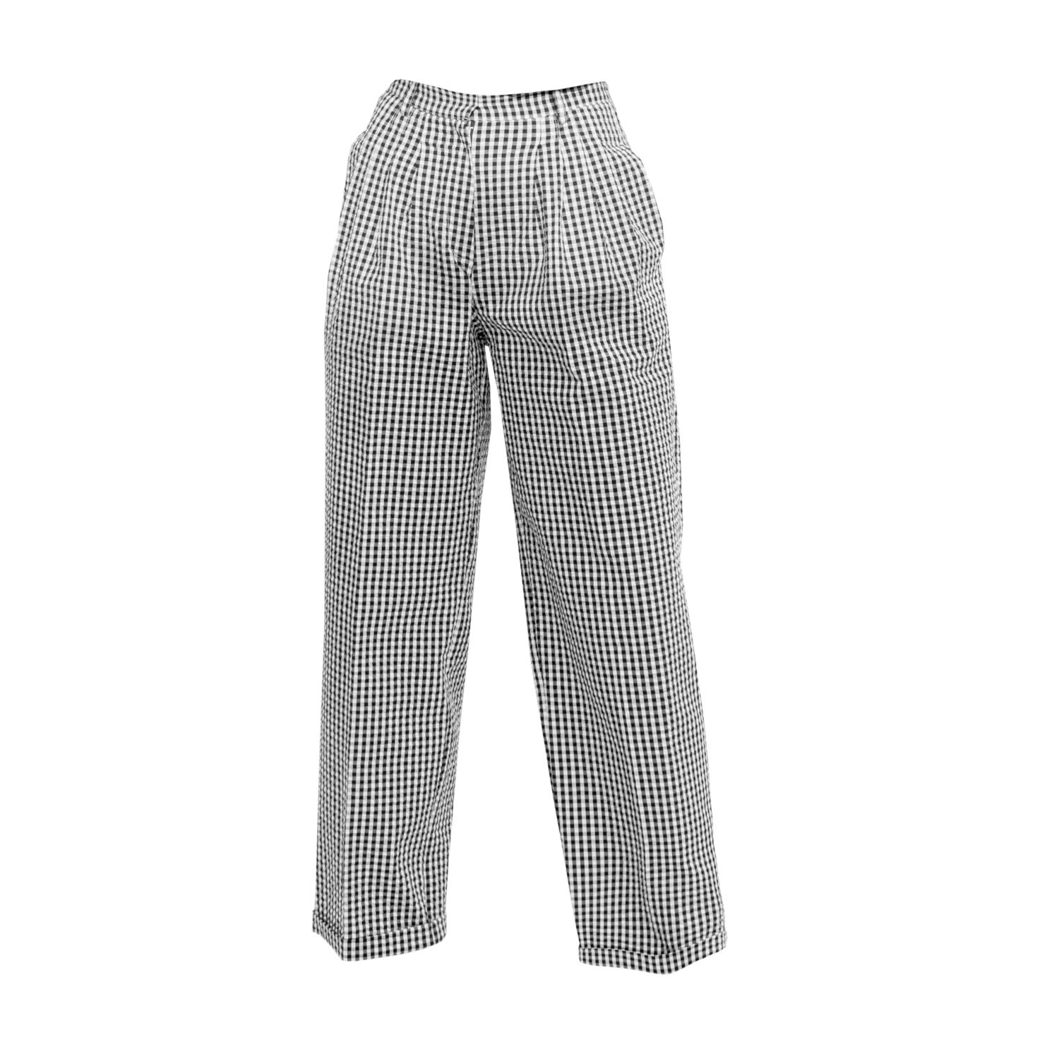 Tomcsanyi - Toalmas Black & White Multi Pleat Trousers