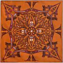 Vietnam Mandala Fire Neckerchief Silk Scarf image