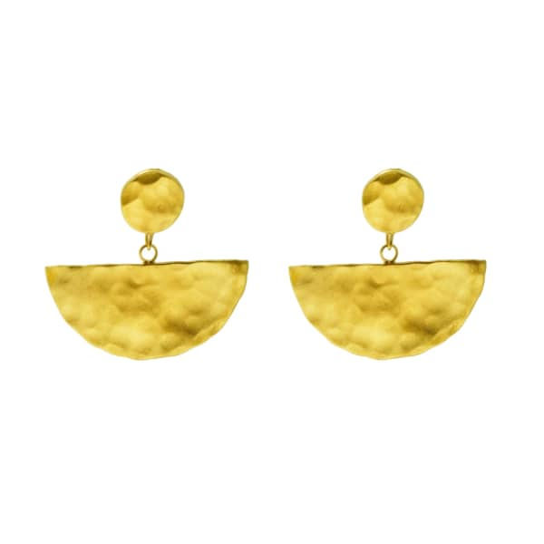 YVONNE HENDERSON JEWELLERY Gold Half Moon Drop Earrings