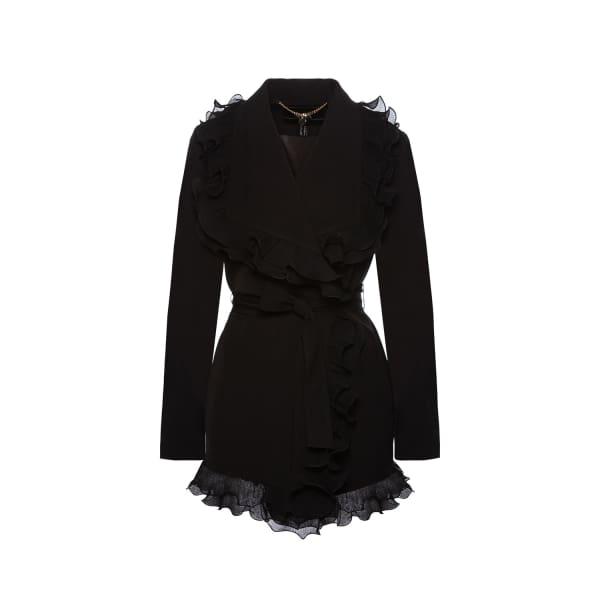 NISSA Elegant Jacket With Ruffles