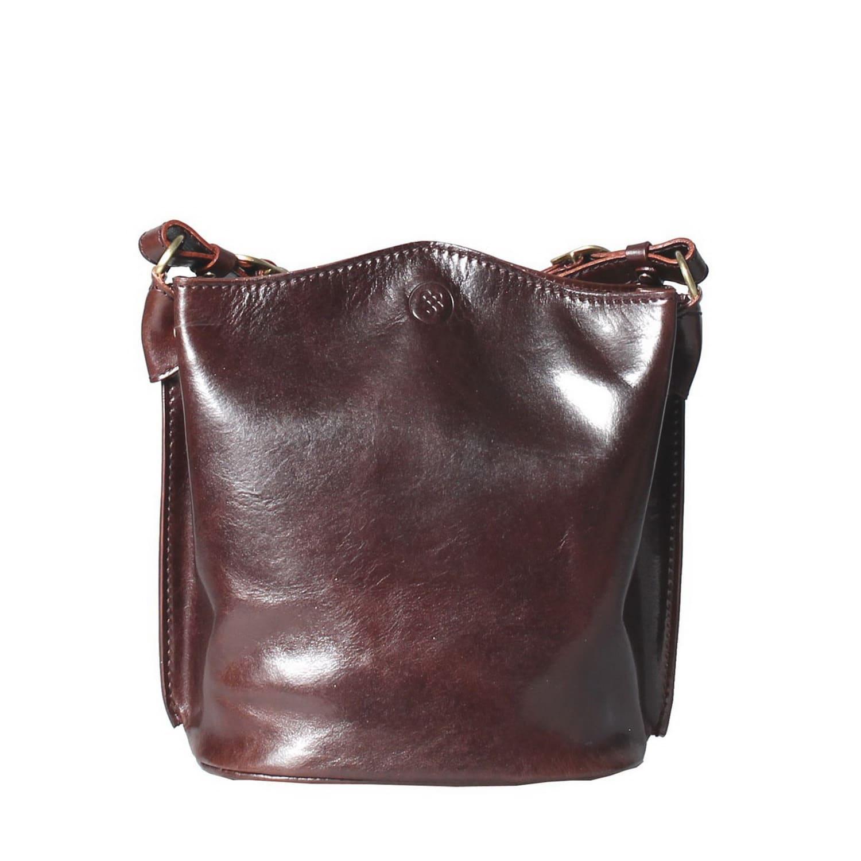 244b21abb5 Luxury Italian Leather Women s Tote Bucket Bag Palermo Chocolate Brown
