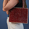 Beaded Tote Cabernet image