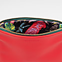 Personalised Small Classic Leather Clutch Bag - Red / Green image
