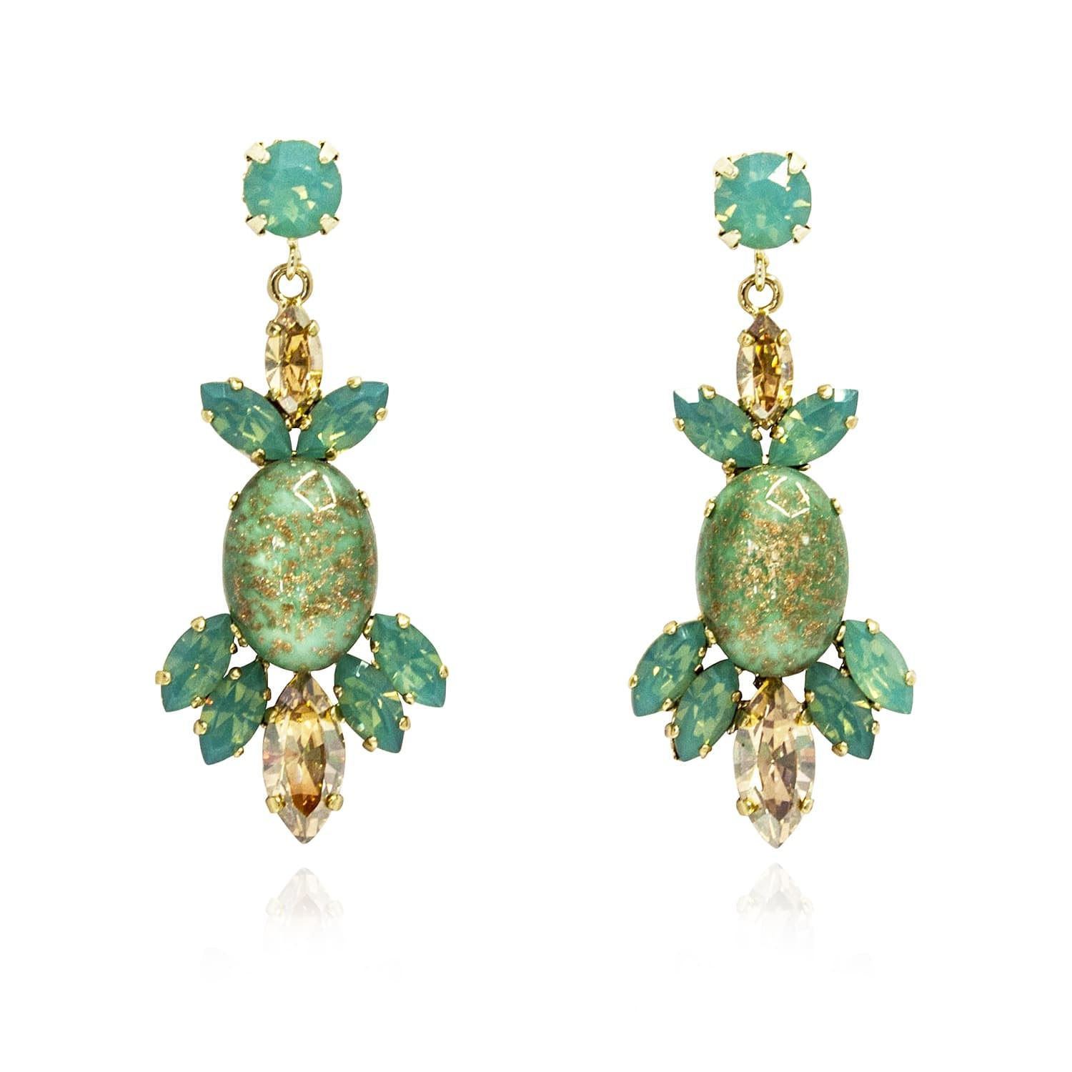 chandelier spade gallery jewelry normal green product pearl stone kate goldtone gold tone crystal york earrings new lyst