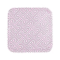 Maze Pink White Square Tray image