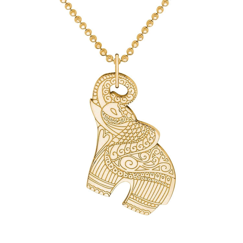 Gold elephant pendant necklace cartergore wolf badger gold elephant pendant necklace image aloadofball Choice Image