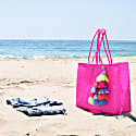 Lolita Recycled Plastic Beach Bag Neon Pink image