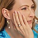 Four Tier Pink Tourmaline & Pink Opal Gemstone Drop Earrings image