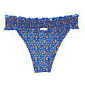 Martinique Smocked Cheeky Bikini Bottom Blue & Orange image