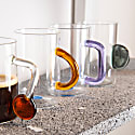 Glass Tea Cup Set - 4 Different Pieces image
