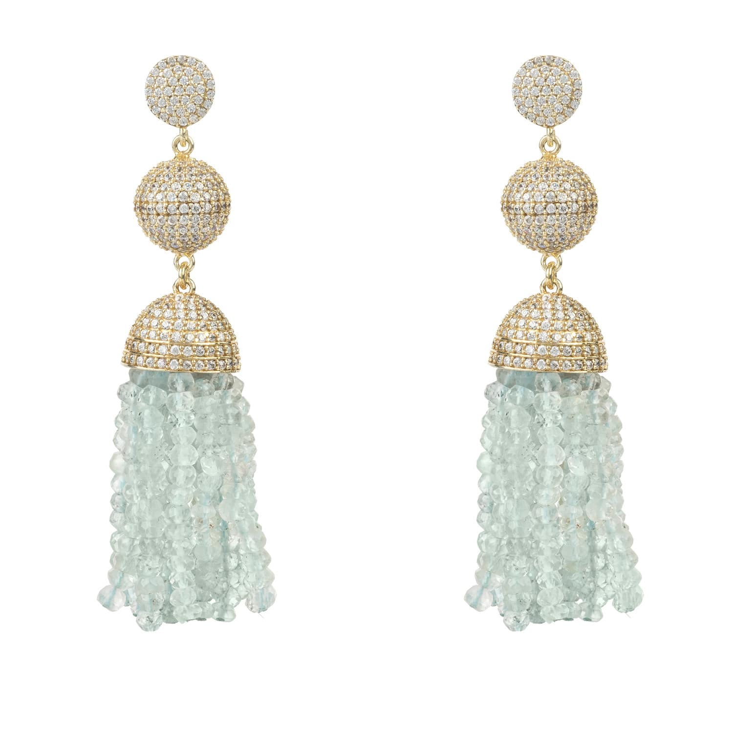 Latelita London Tassel Ball Earring Citrine