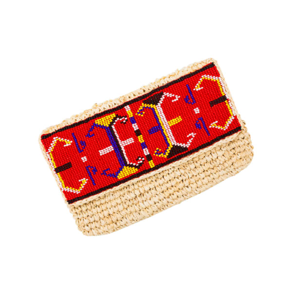 MADEBYWAVE Aztec Red Clutch