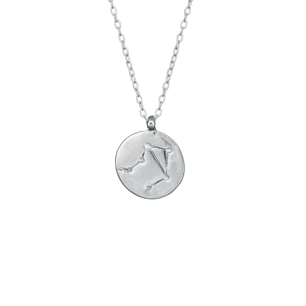 CHUPI Libra We Are All Made Of Stars Star Sign Necklace in Silver
