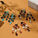 Splash Gemstone Earring Gold Amethyst Carnelian image